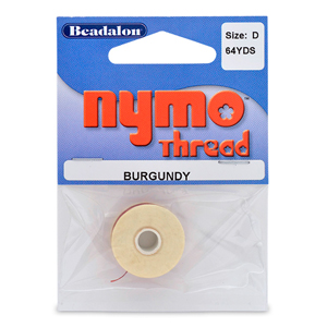 Nymo Thread, Size D, 0.30 mm (.012 in), Burgundy, 1 pc