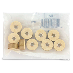 Nymo Thread, Size D, 0.30 mm (.012 in), Sand #2, 10 pc