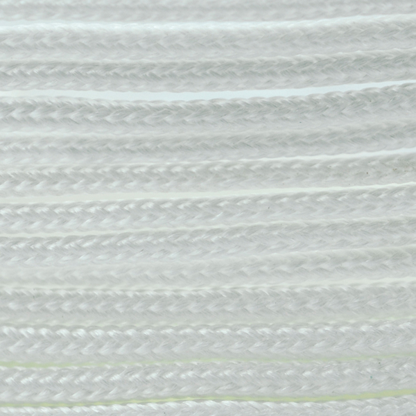 Polyester Braided Cord, White, 1 mm (0.39 in), 4.8 m (5.25 yds)