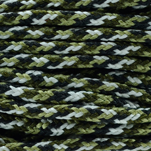 Polyester Braided Cord, Multi Colored Black, Green, White, 1 mm (0.39 in), 4.8 m (5.25 yds)
