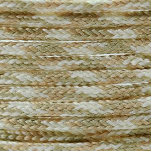Polyester Braided Cord, Multi Colored Tan, White, 1 mm (0.39 in), 4.8 m (5.25 yds)