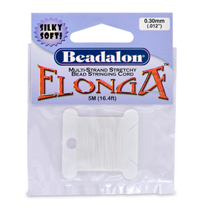 Elonga 0.3 mm (.12 in), White, 5 m (16.4 ft)