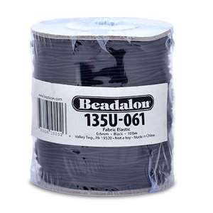 Fabric Elastic, 0.6 mm (.024 in), Black, 91.4 m (300 ft)