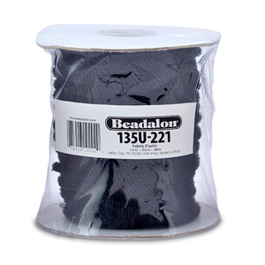 Fabric Elastic, 5.0 mm (.197 in), Black, 20 m (65.6 ft)