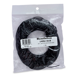 Imitation Leather, 2.0 mm (.079 in), Black, 25 m (82 ft)