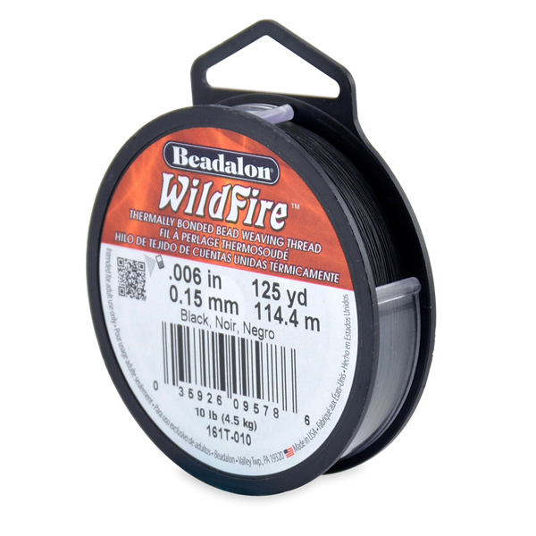 Wildfire, .006 in (.15 mm), Black, 125 yd (114 m)