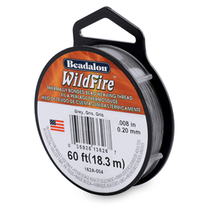 Wildfire, .008 in (0.20 mm), Break Strength 12 lb (5.5 kg), Grey, 20 yd (18 m)