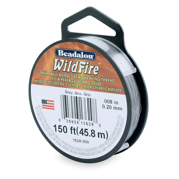 Wildfire, .008 in (.20 mm), Grey, 50 yd (45 m)