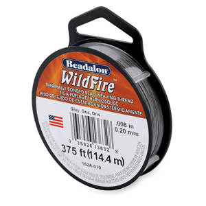 Wildfire, .008 in (0.20 mm), Break Strength 12 lb (5.5 kg), Grey, 125 yd (114 m)