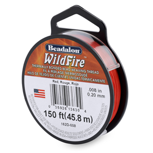 Wildfire, .008 in (0.20 mm), Break Strength 12 lb (5.5 kg), Red, 50 yd (45 m)