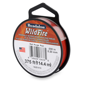 Wildfire, .008 in (0.20 mm), Break Strength 12 lb (5.5 kg), Red, 125 yd (114 m)