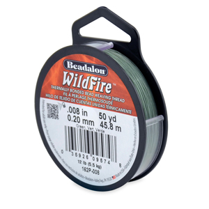 Wildfire, .008 in (0.20 mm), Break Strength 12 lb (5.5 kg), Green, 50 yd (45 m)