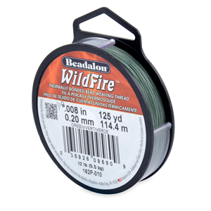 Wildfire, .008 in (0.20 mm), Break Strength 12 lb (5.5 kg), Green, 125 yd (114 m)