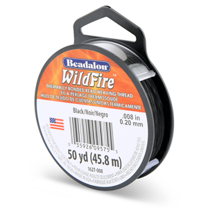 Wildfire, .008 in (.20 mm), Black, 50 yd (45 m)