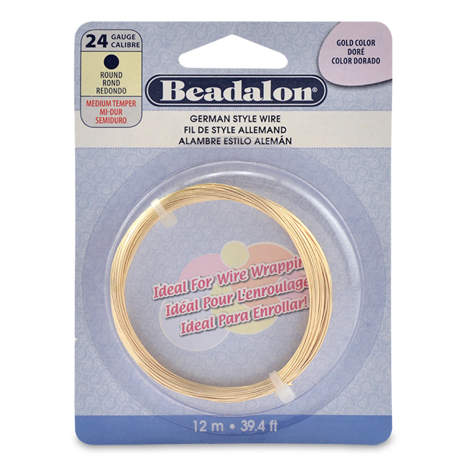 German style wire round gold color 24 gauge 020 in 51 mm 12 german style wire round gold color 24 gauge 020 in 51 mm 12 m 394 ft greentooth Gallery