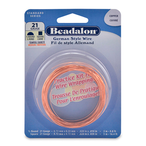 German Style Wire, Practice Kit, 21 gauge (.028 in, .72 mm), 8 m (26.24 ft)