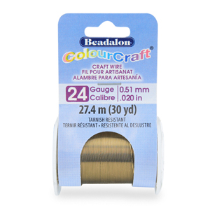 ColourCraft Wire, 24 Gauge (0.020 in, 0.51 mm), Vintage Bronze Color, 27.4 m (30 yd) Spool