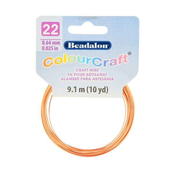 ColourCraft Wire, 22 Gauge (0.025 in, 0.64 mm), Copper, 9.1 m (10 yd) Coil