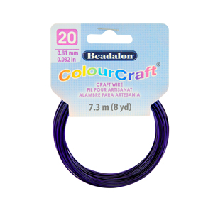 ColourCraft Wire, 20 Gauge (0.032 in, 0.81 mm), Dark Blue, 7.3 m (8 yd) Coil