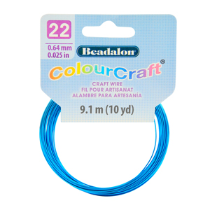 ColourCraft Wire, 22 Gauge (0.025 in, 0.64 mm), Sapphire (Silver Plated), 9.1 m (10 yd) Coil