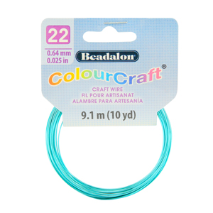 ColourCraft Wire, 22 Gauge (0.025 in, 0.64 mm), Sea Green (Silver Plated), 9.1 m (10 yd) Coil