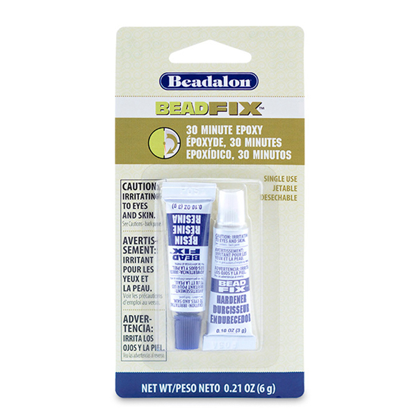 Beadfix Adhesive 2-Part Epoxy, 6 g (0.21 oz) [NO AIR SHIPPING]