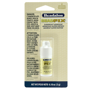 Beadfix Adhesive, 3 g (.11 oz), with 2 precision tips  [NO CANADA ORDERS/NO AIR SHIPPING]