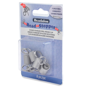 Bead Stopper, Combo Pack, (4 Small, 4 Large) 8 pc
