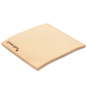 Leather Pad for Wire Working, (76.2 x 76.2 mm) (3 x 3 in)