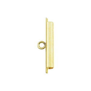 Cord Ends, Tube Slide, 23 mm (0.90 in), I.D. 2.44 mm (.096 in), Slit width .74 mm (.029 in), Gold Color, 2 pc