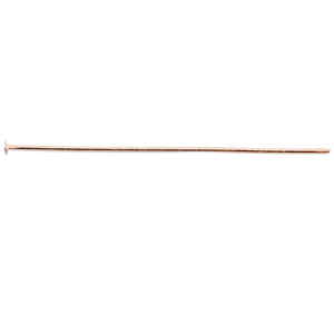 Head Pins, 50 mm (1.97 in), wire diameter 0.7 mm (.028 in), Rose Gold Color, 72 pc
