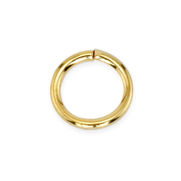 Jump Rings, 8 mm (.315 in), Gold Color, 144 pc