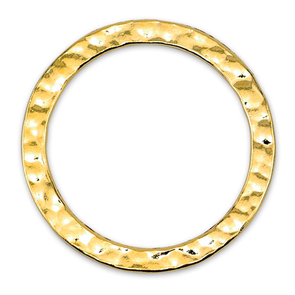 Solid Rings, 27 mm (1.06 in), Textured, Gold Color, 5 pc