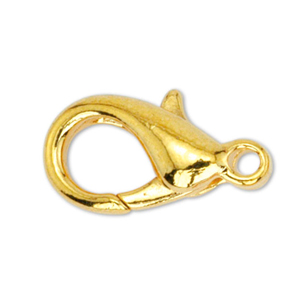 Lobster Clasps, Medium, Gold Color, 5 pc