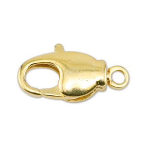 Lobster Clasps, Swivel, 14 mm (.551 in), Gold Color, 4 pc