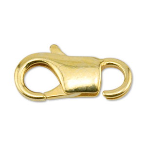 EZ Lobster Clasps, 13 mm (.511 in), Gold Color, 8 pc