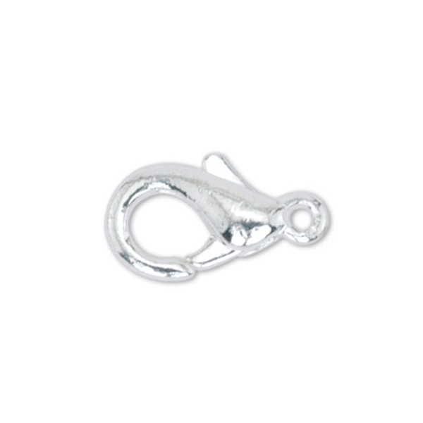 Lobster Clasps, X-Small, Silver Plated, 5 pc