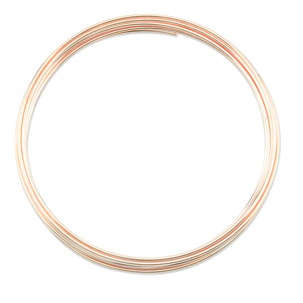 Memory Wire, Extra Heavy Duty Round, Large Bracelet, Rose Gold Color, Wire Diameter 1.0 mm (.039 in), 0.5 oz (14 g), appx. 9 coils/pack
