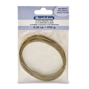Memory Wire, Round, Oval Bracelet, Antique Brass, 0.35 oz (1 g), appx 23 coils/pack