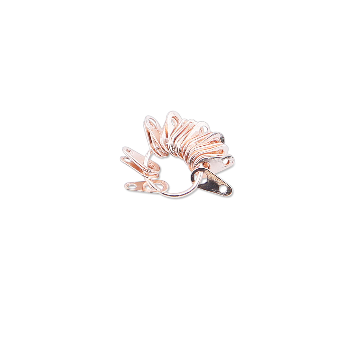 18123e6331a Findings Variety Pack, Rose Gold Color, 73 Jump Rings, 8 Spring Rings, 8  Lobster Clasps, 23 Tags, 112 pc