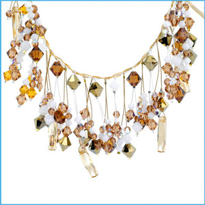 49 Strand Silver and Gold Necklace