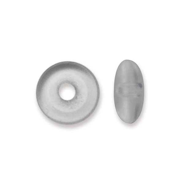 Bead Bumpers, 1.5 mm (0.06 in), Satin Silver, 50 pc