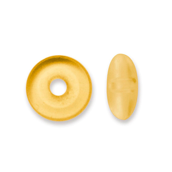 Bead Bumpers, 1.5 mm (0.06 in), Satin Gold, 50 pc