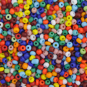 Seed Beads, Czech, Size 10/0, Assorted Colors, Opaque, 22 g (.776 oz) Vial