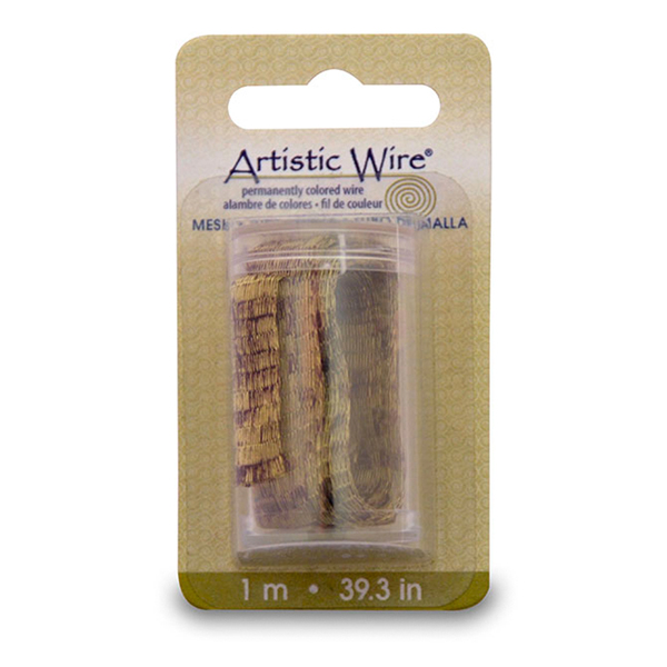 Artistic Wire Mesh, 10 mm (0.40 in), Antique Brass Color 1 m (3.2 ft)