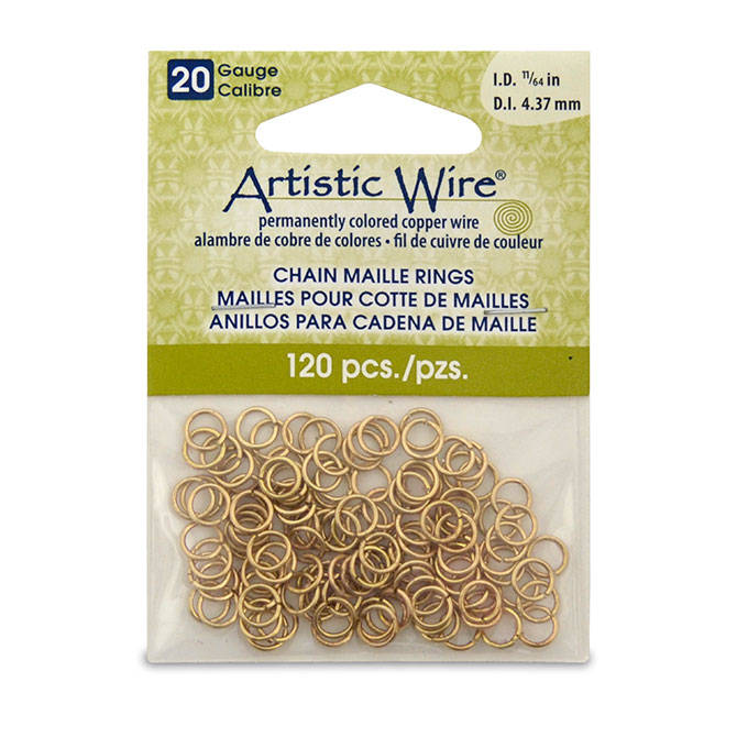 20 gauge artistic wire chain maille rings round tarnish resistant 20 gauge artistic wire chain maille rings round tarnish resistant brass 1164 in 437 mm 120 pc keyboard keysfo Image collections