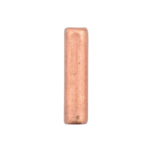AW Lg Wire Crimp Tubes,10mm (.4 in), Bare Copper, for 14 ga wire, ID 2.0mm (.078 in), 55pc