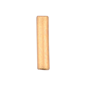 Artistic Wire Large Crimp Tubes,10mm (.4 in), Brass Color, for 14 ga wire, ID 2.0mm (.078 in), 50pc