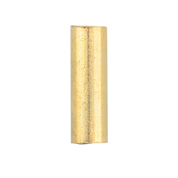 Artistic Wire Large Crimp Tubes,10 mm (0.4 in),Tarnish Resistant Gold Color, for 12 ga wire, ID 2.2 mm (0.086 in), 50pc