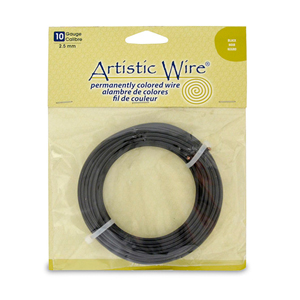 Artistic Wire, 10 Gauge (2.6 mm), Black, 25 ft (7.6 m)